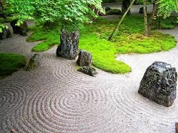 landscape design background zen garden Kyushu Japan e chan
