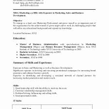 Luxury Marketing Resume Sample Pdf Elegant Resume Format For Mba