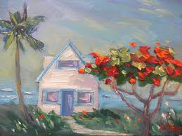 contemporary artists of north ina daily painting small oil painting tropical landscape painting