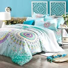 teal full size comforter sets stylish turquoise aqua blue purple and yellow bohemian tribal style circle