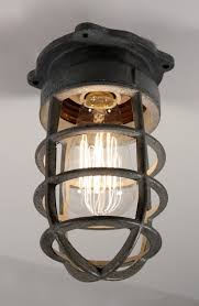 antique cage light fixture for wall or ceiling signed crouse hinds nc1031 for