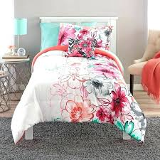 teal and c comforter best teen girls bedding twin mint green fl set color dark purple