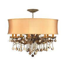 chandeliers crystorama lighting crystal chandelier with gold shade in antique brass finish 4489 ab shg