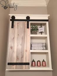 diy sliding barn door for bathroom