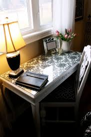 glass desk table tops. DIY Idea - Fit Glass Over A Desk Or Table And Wall Paper Beneath Glass, But Don\u0027t Glue Down So You Can Easily Change It Tops