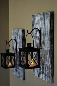 rustic wall decor candle wall sconces