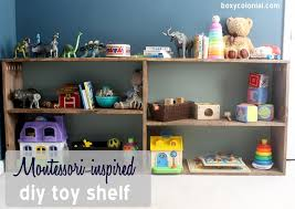 montessori inspired diy toy shelf for abe
