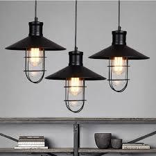 industrial metal lamp shade black rustic pendant lights vintage led 14