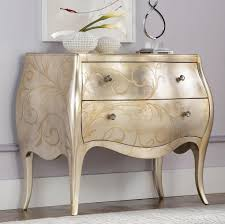 Silver Leaf Bedroom Furniture American Drew Jessica Mcclintock Couture Accent Silver Leaf Chest