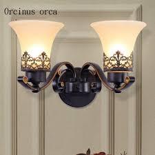 perbezaan harga european style retro simple wall lamp living room bedroom dining room wall decoration lamp