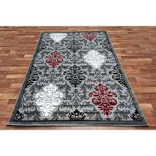 breathtaking red and gray area rugs 35 rug