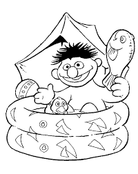 Small Picture Sesame Street Coloring Pages