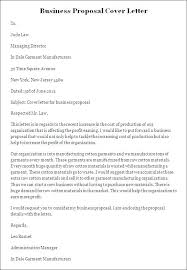 Sample Cover Letter Business Sample Proposal Cover Letter Business Proposal Cover Letter Template