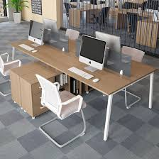 office desk workstation. Modern Furniture Two-Person Office Desk With Drawer For Workstation