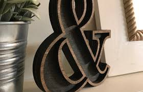 ampersand wooden marquee cutout laser cut wood letter laser cut diy eat ampersand wall metal personalized