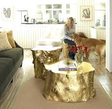 tree trunk coffee table gold painted of tree stump coffee table making tree stump coffee tree