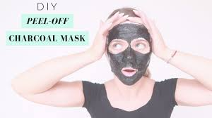 how to remove blackheads whiteheads with a diy l off face mask activated charcoal no glue
