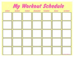 Workout Schedule Chart Print A Workout Calendar