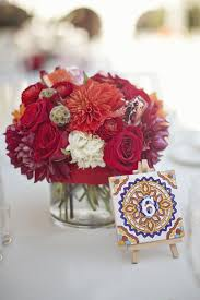 spanish style inspiration wedding i like the table numbers on tiles