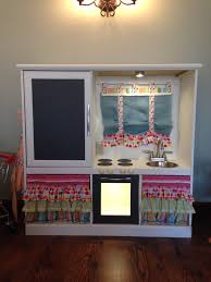 Play Kitchen From Old Furniture Old Entertainment Centernow My Little Girls Play Kitchen