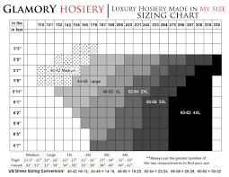 Glamory Hosiery Sizing Chart With Dress Size Height And