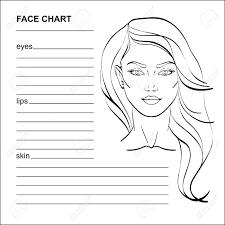 Face Chart Makeup Artist Blank Vector