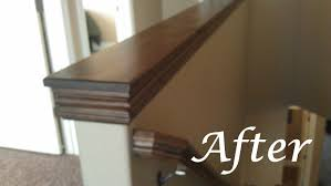 Stair Finishes Pictures Easy Diy Custom Finishes To Your Handrail Or Half Wall How To