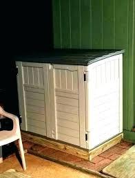 garbage bin home depot cabinet outdoor trash can storage unique sliding g cans diy wooden shed refuse modern