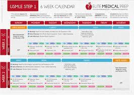 Free Schedule Free 6 Week Usmle Step 1 Study Schedule Elite Medical Prep