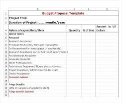 Proposal Template Excel Excel Proposal Template Budget Construction ...