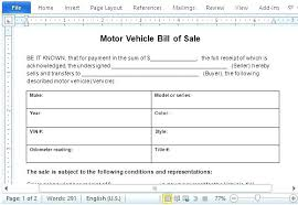 Sample Of Bill Of Sale For Car Auto Bill Of Sales Template Sale Receipt New State Motor Vehicle