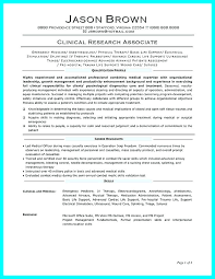 Sample Resume For Entry Level Clinical Research Associate Unique Stunning Resume For Entry Level