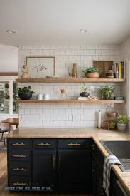 Kitchen Reveal With Dark Cabinets And Open Shelving Bigger Than