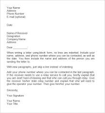Formal Business Letterhead Formal Business Letter Format Outline Template With