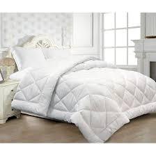 seerer microfiber cover diamond quilted all season down alternative comforter white