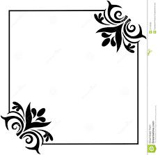 Simple Black Corner Borders Png Image Gallery - HCPR