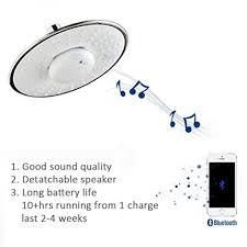 morpilot wide drenching round shape top spray rain shower head with waterproof jet wireless bluetooth speaker polished chrome showerhead audio box