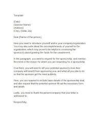 Sponsorship Letter Template 40 MUSEUM Pinterest Sponsorship Stunning Format For Sponsorship Letter