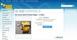 gold flake toilet paper. toilet paper man\u0027s luxurious tissue comes gift-wrapped. gold flake