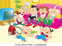 family room clipart. children watching tv in the room vector clipart royalty free. 4 clip art eps illustrations and images available to family l