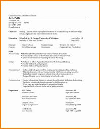Common Resume Format Most Best Of Mon Templates Easy Therefore