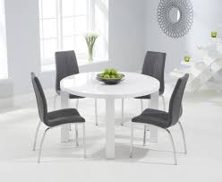 aqua 120cm round high gloss furniture white dining table 4 white dining chairs