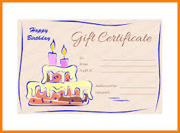 8 Happy Birthday Gift Certificates Templates Free Plastic Mouldings