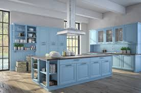 Exellent Blue Country Kitchens Baby Color Kitchen With Wood Flooring On Innovation Ideas