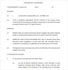 Confidentiality Agreement Templates - 9+ Free Word Documents ...