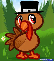 cute thanksgiving turkey drawing. Draw Cute Cartoon Turkey Learn How To Thanksgiving In Drawing