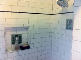 installing subway tile in shower image cabinetandra
