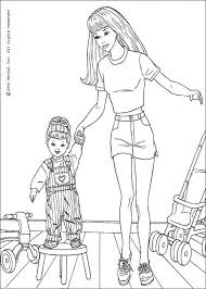 Barbie Doll Coloring Pages Dream House Colouring Sheets Delottery