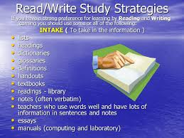 learning styles ppt video online  7 write study strategies