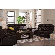 Walnut Living Room Furniture Sets Diablo Power Reclining Sofa Walnut Value City Furniture